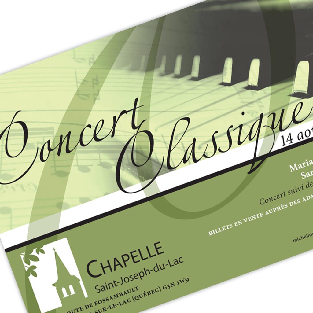 La Chapelle Saint-Joseph-du-Lac Concert