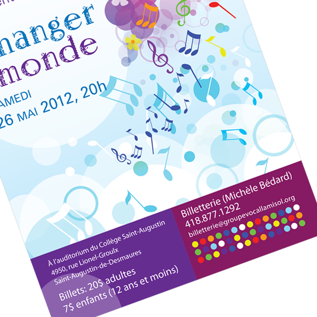 Chorale La-Mi-Sol affiche